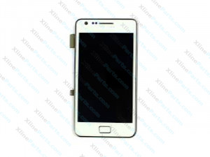 LCD with Touch and Frame Samsung Galaxy S2 I9100 white AAA