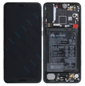 LCD with Touch and Frame Complete Huawei P20 Pro with Internal Battery blue (Original)