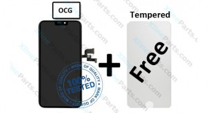 LCD with Touch Apple iPhone XS black OCG