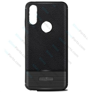 Silicone Case Rugged Carbon Huawei P20 Lite black