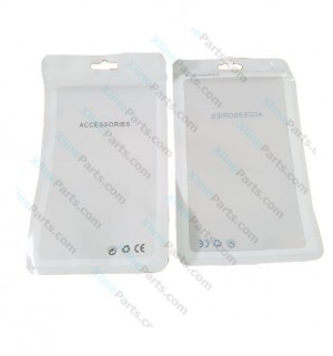 Clear Plastic Zip Bag CE for Package 11*17cm white