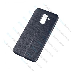 Silicone Case Carbon Samsung Galaxy A6 (2018) A600 dark blue