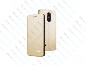 Flip Case with Holder for LG K10 (2017) gold