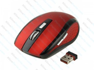 Mouse Wireless 6D Optical red