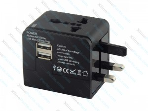 Multi-Nation Travel Charger Adapter with 2.1A USB