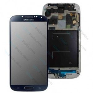 LCD with Touch and Frame Samsung Galaxy S4 LTE I9506 dark blue OCG