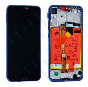 LCD with Touch and Frame Complete Huawei P20 Lite with Internal Battery blue (Original)