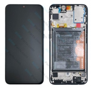 LCD with Touch and Frame Complete Huawei P Smart (2019) with Internal Battery black (Original)