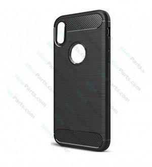 Silicone Case Carbon Apple iPhone X/XS black