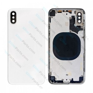 Back Battery and Middle Cover Apple iPhone X silver