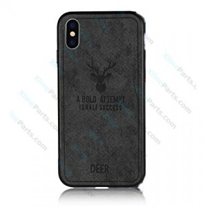 Silicone Case Deer Apple iPhone XS Max black