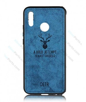 Silicone Case Deer  Honor 10 Lite blue