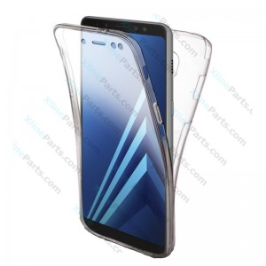 Silicone Case 360 Degree Samsung Galaxy A8 plus (2018) A730 Double Sided clear