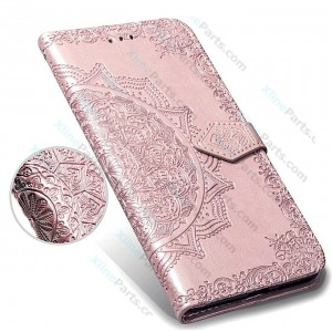 Flip Case Fancy Huawei Y7 Prime (2019) pink