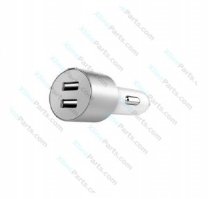 Car Charger Adapter Dual USB silver