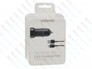 Samsung USB Type C Fast Car Charger black