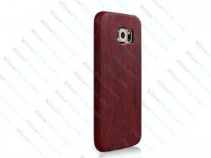 Silicone Case Wood Print Samsung Galaxy A3 Dark Red