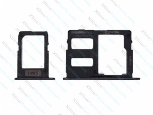 SIM Holder Micro SD Card Holder Samsung Galaxy J3 J5 J7 2017 Single black