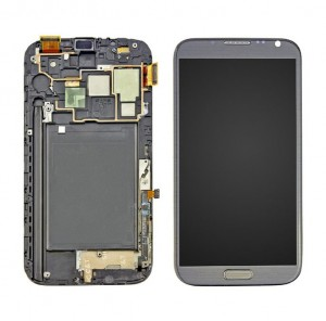 LCD with Touch and Frame Samsung Galaxy N7100 Note 2 black AAA
