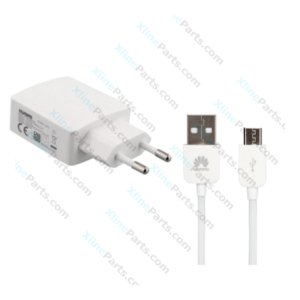 Huawei Fast Charge Cable Micro USB with USB Power Adapter 2 Pin white (Original) bulk