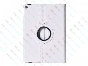 Case 360 Degree Rotate Apple iPad 2 iPad 3 iPad 4 white