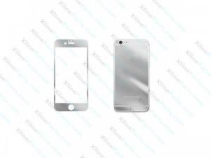 Tempered Glass Front and Back Protector Apple iPhone 6G/6S Silver