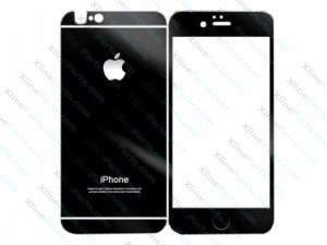 Tempered Glass Front and Back Protector iPhone 7 black