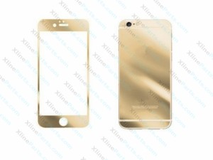 Tempered Glass Front and Back Protector Apple iPhone 6G Plus/6S Plus gold