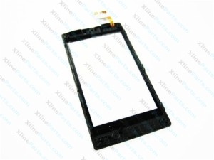 Touch Panel with Frame Nokia Lumia 520 black