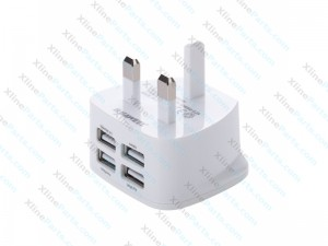 Travel Charger Samsung 4 USB Ports 3.1A white