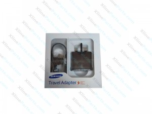 Travel Charger Samsung with Cable MicroUsb Power Adapter 3 Pin black AAA