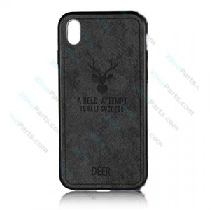 Silicone Case Deer Apple iPhone XR black