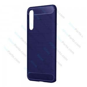 Silicone Case Carbon Huawei P20 dark blue