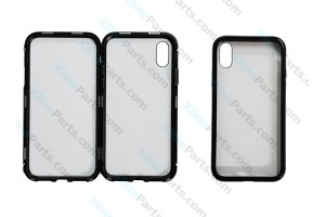 Metal Magnetic Case iPhone X/XS Transparent black