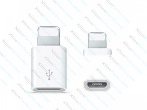 USB Micro V8 Adapter Dock Connector 8 Pin Apple iPhone