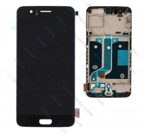 LCD with Touch and Frame OnePlus 5 black HQ