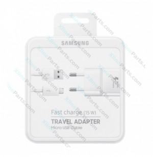 Travel Charger Fast 15W Samsung EP-TA20 MicroUsb 2 Pin USB Adapter white (Original)