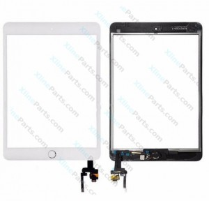 Touch Panel with IC Apple iPad Mini 3 Complete white