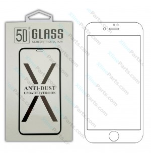 Tempered Glass Screen Protector 5D Apple iPhone X /XS white