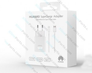 Travel Charger Huawei AP81 Type-C Cable 2 Pin Adapter white (Original)