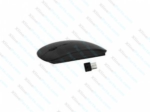 Wireless 2.4GHz Ultra-thin Laser Optical Mouse with USB Mini Receiver black