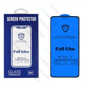 Tempered Glass Screen Protector Full Glue Samsung Galaxy S10e G970 black
