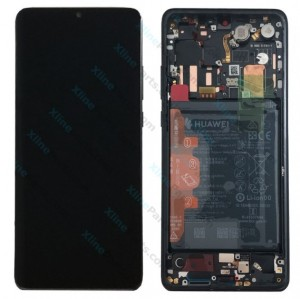 LCD with Touch and Frame Complete Huawei P30 Pro with Internal Battery black (Original)