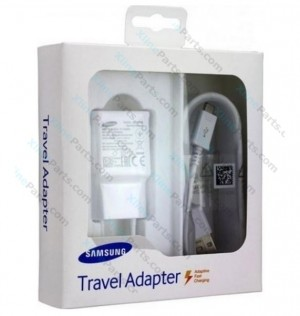 Travel Charger Samsung EP-TA20 MicroUsb 2 Pin USB Adapter white (Original)
