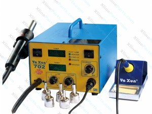 YAXUN VX702 2 in 1 Hot Air and Soldering Station 220v 45W