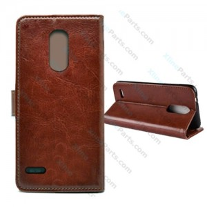 Flip Case Crazy Horse LG K9 (K8 2018) brown
