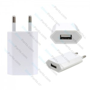 Travel Charger USB Adapter 2 Pin Apple A1400 white (Original) bulk